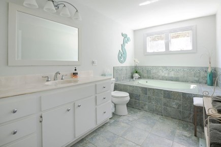 West Dennis Cape Cod vacation rental - Master bathroom first floor with jacuzzi tub