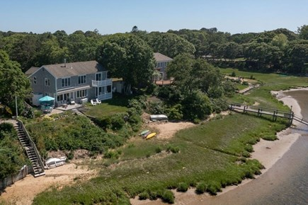West Dennis Cape Cod vacation rental - House aerial view