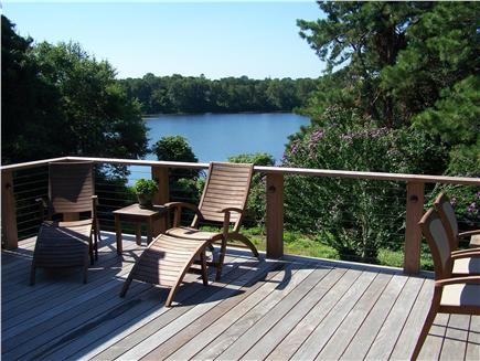 Brewster Cape Cod vacation rental - New 18' by 24' Deck with Great Pond View