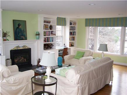 Brewster Cape Cod vacation rental - Living room (view of pond)