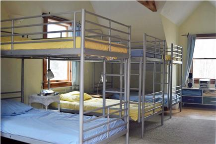 Falmouth - Quissett Harbor Cape Cod vacation rental - The bunk room - the kids love it!