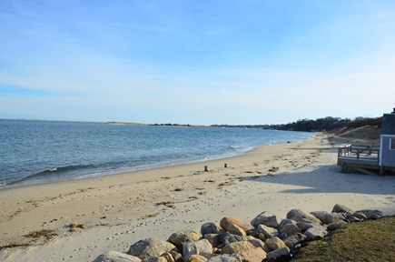 Chatham Cape Cod vacation rental - Our 200+ feet beach is part of 1 mile of beach on Chatham Harbor.