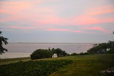 Chatham Cape Cod vacation rental - View of our sandy beach, Chatham Harbor, and Atlantic at sunset.