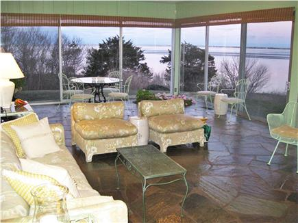 Chatham Cape Cod vacation rental - Large, wall-to-wall glass enclosed sunroom with water views.