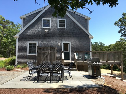 Wellfleet Cape Cod vacation rental - Relax and enjoy a barbeque on our bluestone outdoor patio