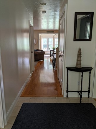 Brewster Cape Cod vacation rental - Front hall entry leads to open kitchen,dining and sitting room