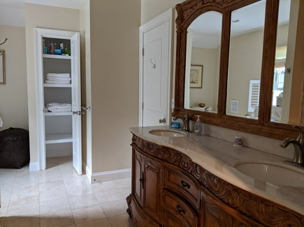 Brewster Cape Cod vacation rental - Double vanity in second floor roomy and spacious, Shower tub