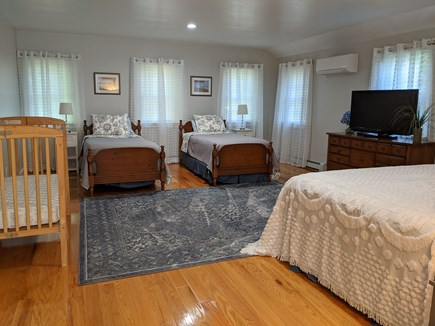 Brewster Cape Cod vacation rental - Ex Large Primary bedroom with flex sleeping space for children.