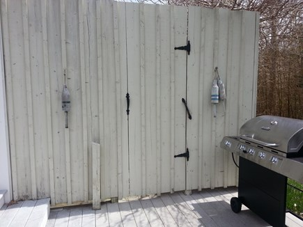 Brewster Cape Cod vacation rental - Outdoor shower to wash the salt & sand after a day at the beach.