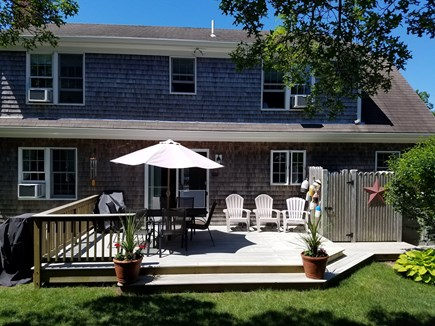 Brewster (Sheep Pond) Cape Cod vacation rental - Enjoy expanded deck, grill, outdoor shower, hammock & fire pit