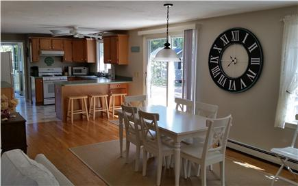 Brewster (Sheep Pond) Cape Cod vacation rental - Fully equipped kitchen open to dining area, living room, & deck.