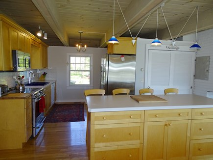 Chatham, Hardings Beach Area Cape Cod vacation rental - Kitchen with large island, stainless steel appliances