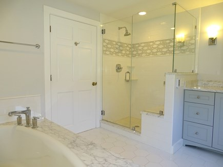 Chatham, Hardings Beach Area Cape Cod vacation rental - Master bath with deep soaking tub and oversized shower