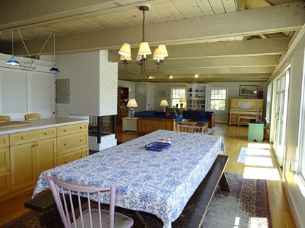 Chatham, Hardings Beach Area Cape Cod vacation rental - Dining area opens to kitchen and great room, seats 10