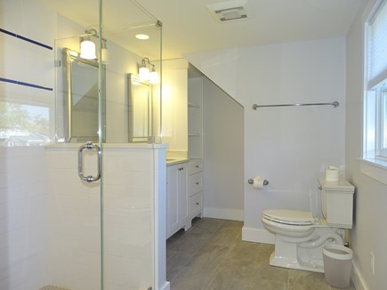 Chatham, Hardings Beach Area Cape Cod vacation rental - New 2nd floor bath with oversized shower and twin sinks