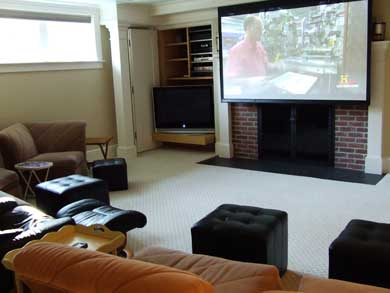 East Orleans Cape Cod vacation rental - Lower level movie room with surround sound and 42'' HD TV