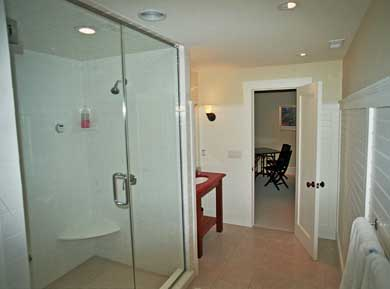 East Orleans Cape Cod vacation rental - Lower level bathroom with double steam shower