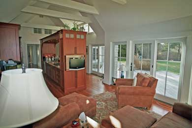 East Orleans Cape Cod vacation rental - Kitchen and sunroom with HD TV