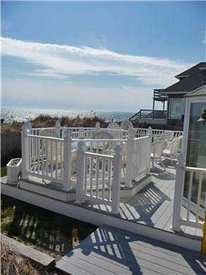 West Dennis Cape Cod vacation rental - Enjoy Dinner on Sun-lit Deck with Ocean View, overlooking beach