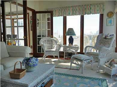 West Dennis Cape Cod vacation rental - Bright and Airy Family Sunroom with Ocean View