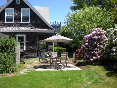 Harwich Port Cape Cod vacation rental - Large back yard - plenty of room to play!
