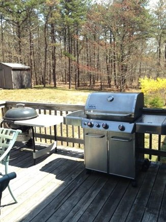 Wellfleet Cape Cod vacation rental - Deck for dining, relaxing, enjoy 2 grills