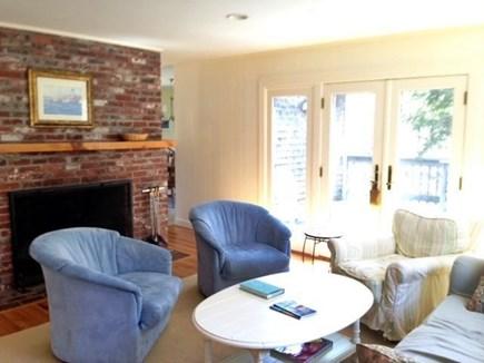 Wellfleet Cape Cod vacation rental - Living room towards fireplace