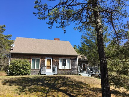 Wellfleet Cape Cod vacation rental - Tidy Cape style home with a large yard, set well back from road