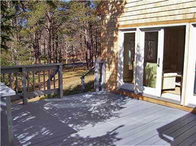 Wellfleet Cape Cod vacation rental - Front Deck