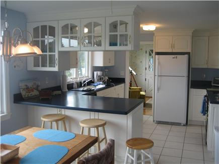 West Yarmouth - Lewis Bay Cape Cod vacation rental - Dining - Kitchen, seating for 8 & fully equipped Kitchen.
