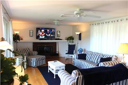 West Yarmouth - Lewis Bay Cape Cod vacation rental - Living room, new large flat screen TV
