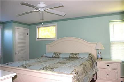 West Yarmouth - Lewis Bay Cape Cod vacation rental - Master Bedroom, with TV, & en-suite Bath