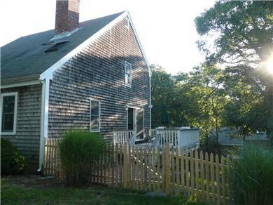 Chatham Cape Cod vacation rental - Side of the house - property completely fenced in