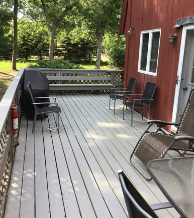 Wellfleet Cape Cod vacation rental - Wrap-around deck for cookouts and relaxing