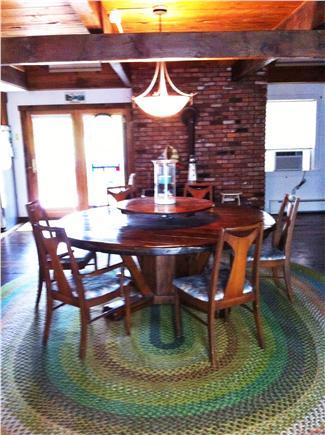 Wellfleet Cape Cod vacation rental - Generous dining room table easily seats 8