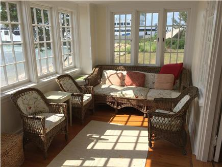 Woods Hole Woods Hole vacation rental - Spacious sun porch with panoramic water views