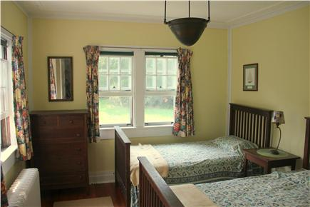 Woods Hole Woods Hole vacation rental - First floor bedroom with two twin beds, designed by the architect