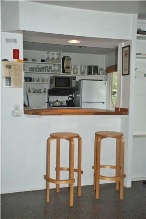 Wellfleet Cape Cod vacation rental - New breakfast bar w/ kitchen pass through to living/dining area.