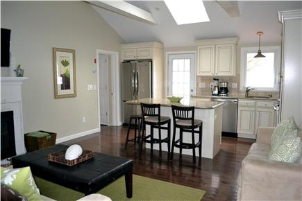 Dennis Port Cape Cod vacation rental - Family room looking into kitchen