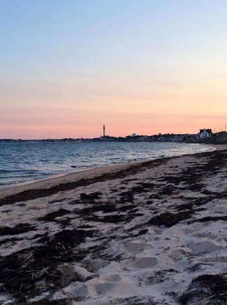 North Truro Cape Cod vacation rental - View of the Provincetown Monument from Bay Beach