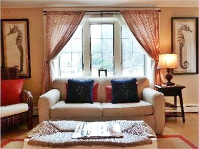 North Truro Cape Cod vacation rental - Sun drenched living room, cozy seating, cable tv/dvd/wi-fi.
