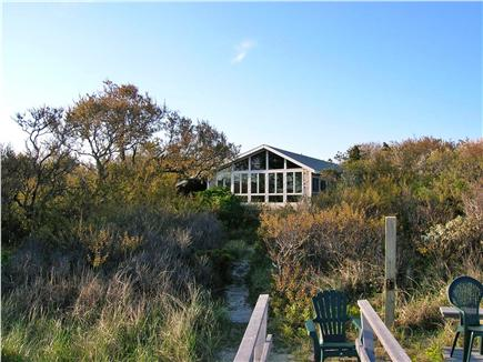 Brewster Cape Cod vacation rental - View of house from the bluff