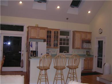 Mashpee, Popponesset Cape Cod vacation rental - Kitchen with island and all amenities.