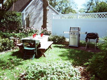 So. Yarmouth Cape Cod vacation rental - Back Yard Dining and Grilling