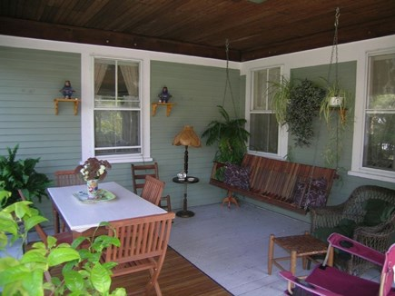 So. Yarmouth Cape Cod vacation rental - Screened Porch with Swing for Days and Nights