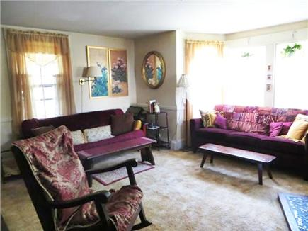 So. Yarmouth Cape Cod vacation rental - Victorian living room with bay window