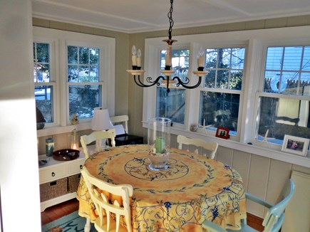 Dennis Port Cape Cod vacation rental - Dining Area with slider to the deck
