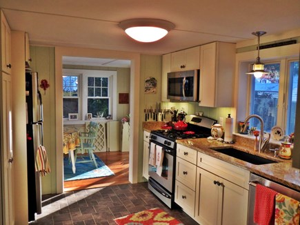 Dennis Port Cape Cod vacation rental - Newly remodeled Kitchen with granite to dining area
