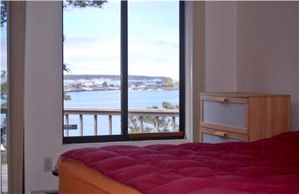 Wellfleet Cape Cod vacation rental - View from bedroom #4, 1 King 2 Twins and wall mounted flat screen