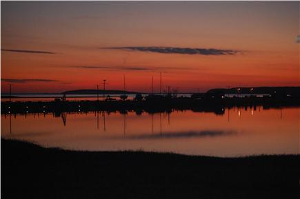 Wellfleet Cape Cod vacation rental - Sunset from the waterfront side of the home are superb